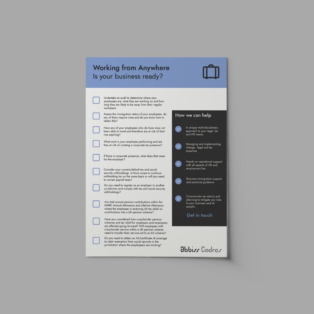 International Remote Working - Checklist Download